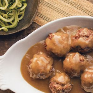 Meatballs with Brown Gravy